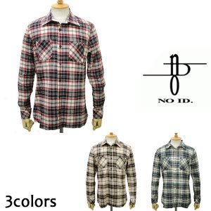 訳あり sale セール NO ID.(ノーアイディー) ビエラ起毛チェックワークシャツ 全3色|threewoodjapan