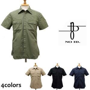 訳あり sale セール NO ID.(ノーアイディー) 40sダンプ ミリタリーシャツ 半袖 全4色|threewoodjapan