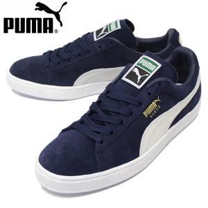 PUMA(プーマ) 356568-51 SUEDE CLASSIC+(スエードクラシックプラス) ローカットスニーカー ピーコート/ホワイト PM137|threewoodjapan