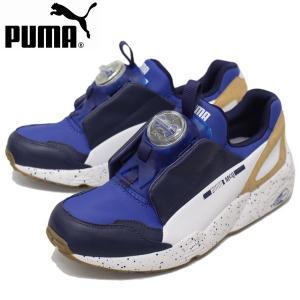 PUMA (プーマ) 360557-01 MCQ DISC BLUE (アレキサンダーマックイーンディスクブルー) コラボスニーカー サーフ ザ ウェブ/アストラルオーラ/ホワイト PM152|threewoodjapan