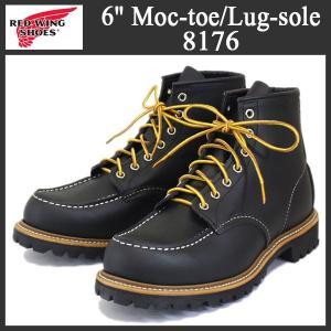 2016-2017年 新作 RED WING (レッドウィング) 8176 Classic Work 6inch Moc-toe/Lug-sole (6インチモックトゥ/ラグソール) ブラッククローム|threewoodjapan