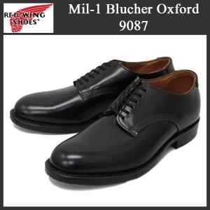 2016新作RED WING (レッドウィング) 9087 Mil-1 Blucher Oxford (ミルワンブルーチャーオックスフォード) プレーントゥ ローカットブーツ ブラック|threewoodjapan