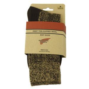 RED WING(レッドウィング) 97173 Deep Capped Toe Wool Socks(ディープキャップトウールソックス) 靴下 Brown ブラウン|threewoodjapan