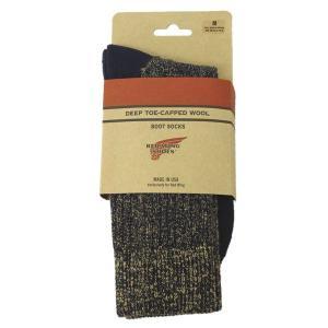 RED WING(レッドウィング) 97174 Deep Capped Toe Wool Socks(ディープキャップトウールソックス) 靴下 Navy ネイビー|threewoodjapan