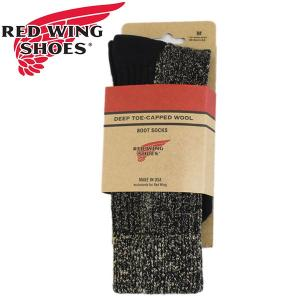 RED WING(レッドウィング) 97177 Deep Toe Capped Toe Wool Boots Socks (ディープトゥキャップドウールブーツソックス) 靴下 Black ブラック|threewoodjapan