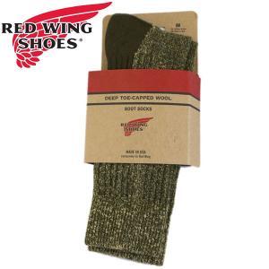 RED WING(レッドウィング) 97178 Deep Toe Capped Toe Wool Boots Socks (ディープトゥキャップドウールブーツソックス) 靴下 Olive オリーブ|threewoodjapan