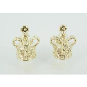 sale セールoyal Order Half Royal Crown Stud(ハーフロイヤルクラウンスタッズ) 9K Gold(9Kゴールド) 1Pair threewoodjapan