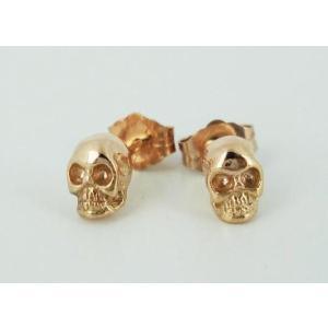 sale セール Royal Order(ロイヤルオーダー)Skull Studs pierce 18K Pink Gold(スカルスタッヅピアス ピンクゴールド) 1pair threewoodjapan
