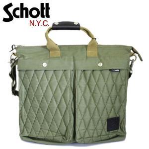 Schott (ショット) 3169049-075 COTTON PADDED UTILITY BAG (コットンパデッド ユーティリティーバッグ) 075-OLIVE|threewoodjapan