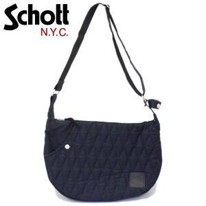 Schott (ショット) 3169050-087 COTTON PADDED BANANA BAG (コットンパデッド バナナバッグ) 087-NAVY|threewoodjapan