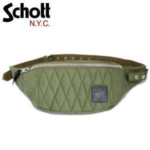 Schott (ショット) 3169051-075 COTTON PADDED BODY BAG (コットンパデッド ボディーバッグ) 075-OLIVE|threewoodjapan
