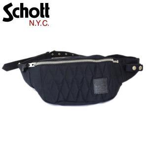 Schott (ショット) 3169051-087 COTTON PADDED BODY BAG (コットンパデッド ボディーバッグ) 087-NAVY|threewoodjapan