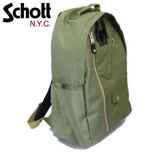 Schott (ショット) 3169053-075 COTTON RIDERS DAY PACK (コットンライダース デイパック) 075-OLIVE|threewoodjapan