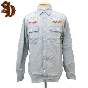 sale セール STANDARD CALIFORNIA(スタンダードカリフォルニア) SD Chambray Shirts Butterfly(シャンブレーシャツ)|threewoodjapan