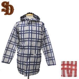 sale セール STANDARD CALIFORNIA (スタンダードカリフォルニア) SD Print Flannel Check Hood Gown (フランネルチェックフードガウン) 全2色|threewoodjapan