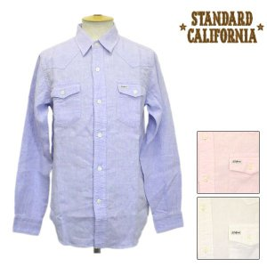 sale セール STANDARD CALIFORNIA(スタンダードカリフォルニア) SD LINEN CHAMBRAY WESTERN SHIRT(ウエスタンシャツ) 全3色|threewoodjapan
