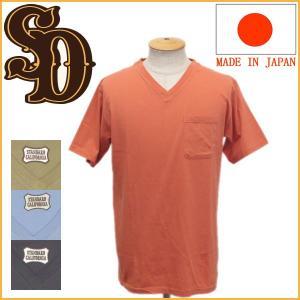 sale セール STANDARD CALIFORNIA (スタンダードカリフォルニア) SD Shield Logo Pocket T V Neck シールドロゴポケットTシャツ Vネック 全4色|threewoodjapan