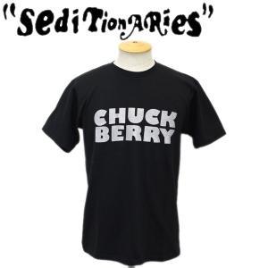 SEDITIONARIES by 666 (セディショナリーズ) CHUCK BERRRY (チャックベリー) Tシャツ ブラックxシルバーラメ STO082|threewoodjapan
