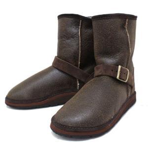 sale セール THE SANDALMAN(サンダルマン) BUCKLE SHEEP SKIN BOOTS(シープスキンブーツ) BROWN ANTIQUE/NAT S030 threewoodjapan