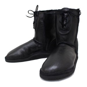 sale セール THE SANDALMAN(サンダルマン) LACE UP SHEEP SKIN BOOTS(シープスキンブーツ) BLK ANTIQUE/BLK S026 threewoodjapan
