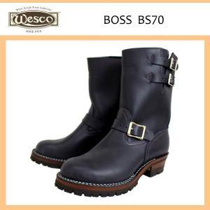 Wescoウエスコ Boss ボス Navy ネイビーレザー,9height,#100sole,2straps,Nickel Bucles BS70|threewoodjapan