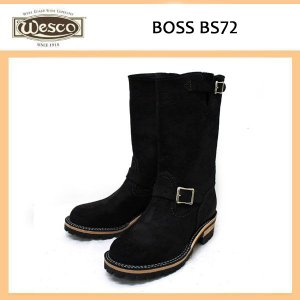 Wescoウエスコ Boss ボス Black Roughout,11height,#100sole,Nickel Bucles BS72|threewoodjapan