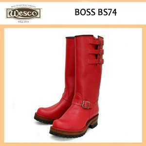 Wescoウエスコ Boss ボス Red Leather,14height,#100Fsole,Black Bucles BS74|threewoodjapan