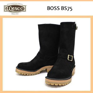 Wescoウエスコ Boss ボス Black Roughout, 10height, #100HoneySole, Brass Bucles BS75|threewoodjapan