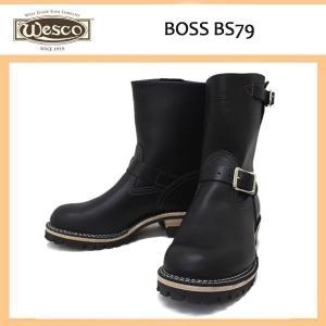 Wescoウエスコ Boss ボス Black Leather, 8height, #100Sole, Nickel Buckles BS79|threewoodjapan