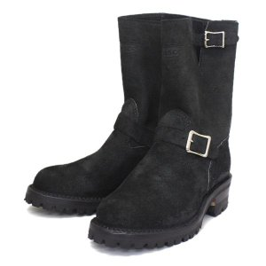 Wescoウエスコ Boss ボス Black Roughout黒裏革,9height,#100 sole,ALLBlack Stitching,エンジニアブーツ BS81|threewoodjapan