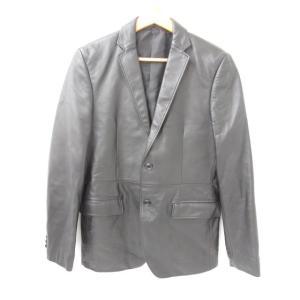 《メンズアウター》COMME CA DU MODE MEN コムサデモード レザージャケット 羊革 SIZE:S 中古 thrift-webshop