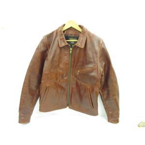 《メンズアウター》VANSON バンソン シングルライダースジャケット レザー SIZE:40 中古|thrift-webshop
