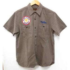 BUZZ RICKSON バズリクソン BR36574 半袖 コントラクターシャツ ワークシャツ SIZE:15-15 1/2|thrift-webshop