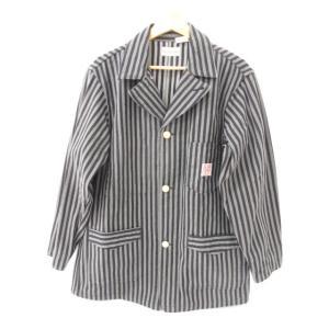 《メンズアウター》SUGAR CANE シュガーケーン ストライプ ジャケット SIZE:40【中古】|thrift-webshop