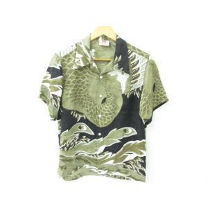 《メンズトップス》花旅楽団 シルク アロハシャツ 鳳凰 SIZE:S|thrift-webshop