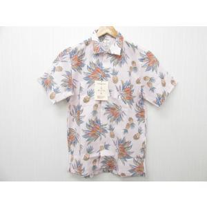 MAJUN マジュン かりゆしウェア 半袖 パイナップル柄 ピンク SIZE:3|thrift-webshop