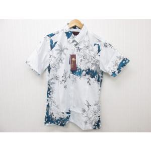 MAJUN マジュン ラグジュアリーオーキッド かりゆしウェア 半袖 SIZE:L|thrift-webshop