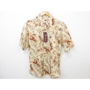 MAJUN マジュン Simple Leaf かりゆしウェア 半袖 SIZE:XXL|thrift-webshop