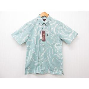 MAJUN マジュン 幾何パインシルエット かりゆしウェア 半袖 SIZE:S|thrift-webshop