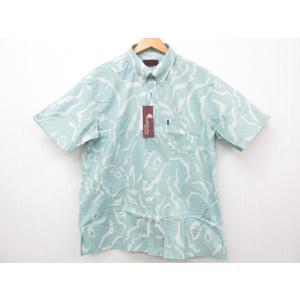 MAJUN マジュン 幾何パインシルエット かりゆしウェア 半袖 SIZE:XXL|thrift-webshop