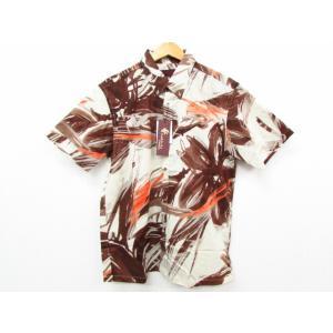 MAJUN マジュン ビッグフラワー かりゆしウェア 半袖 SIZE:L|thrift-webshop