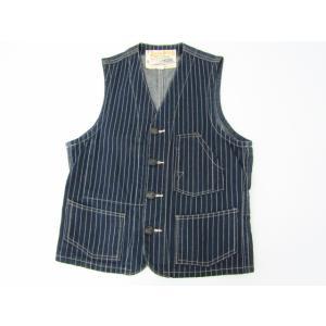SUGAR CANE シュガーケーン ワークベスト ストライプ ヒッコリー SIZE:36|thrift-webshop