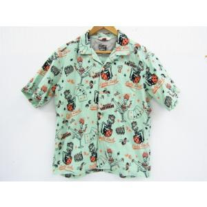STAR OF HOLLYWOOD スターオブハリウッド オープンカラーシャツ 半袖シャツ Las Vegas SH36948 東洋エンタープライズ SIZE:L|thrift-webshop