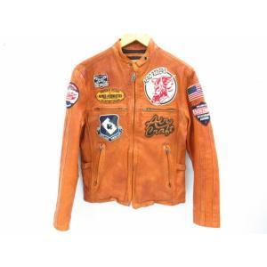AVIREX アビレックス ゴートスキンシングルライダースジャケット 6101018 SIZE:M thrift-webshop