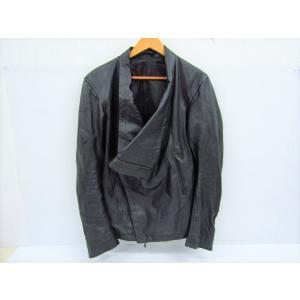 《メンズ》goa ゴア ダブルライダース レザージャケット 豚革 黒 ブラック SIZE:2 中古 thrift-webshop
