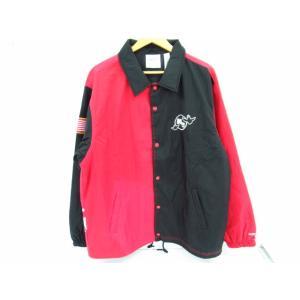MARK GONZALES マークゴンザレス ファイヤーロゴ切替 コーチジャケット SIZE:XL|thrift-webshop