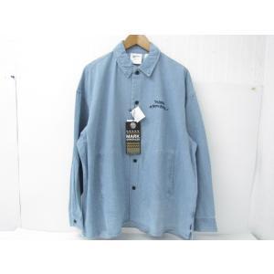 美品 MARK GONZALES マークゴンザレス 2G8-5964 デニムジャケット 胸ロゴ刺繍 ハロウィンテキスト SIZE:L|thrift-webshop