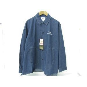 美品 MARK GONZALES マークゴンザレス 2G8-5964 デニムジャケット 胸ロゴ刺繍 ハロウィンテキスト ネイビー SIZE:M|thrift-webshop