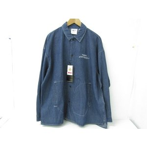 美品 MARK GONZALES マークゴンザレス 2G8-5964 デニムジャケット 胸ロゴ刺繍 ハロウィンテキスト ネイビー SIZE:XL|thrift-webshop