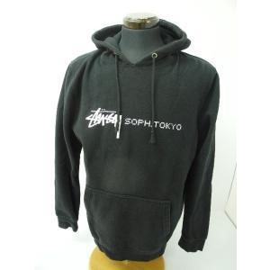 《メンズトップス》STUSSY ステューシー × SOPH. ソフ プルオーバーパーカー トレーナー ブラック/黒 SIZE:L【中古】|thrift-webshop